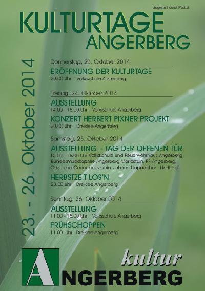 Angerberger Kulturtage 2014