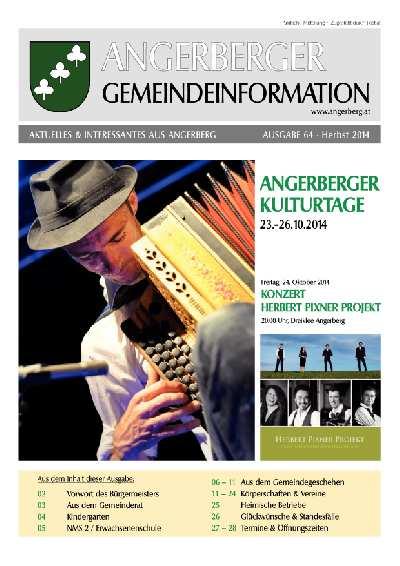 Gemeindezeitung - Herbst 2014